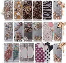 LUXURY 3D Crystal Diamond BLING Hard Case Cover Skin FOR APPLE iPhone 5 5S