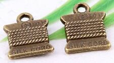 Wholesale 20/45Pcs Bronze Plated(Lead-Free)Silk Cord Charms Pendant 15x11mm