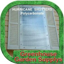 POLYGAL POLYCARBONATE CLEAR DOUBLE WALL -  HURRICANE SHUTTER SYSTEM DYI