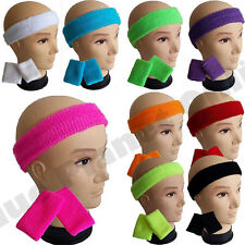 Neon Sweatband Headband & 2 Wristbands 1980s 80s Fancy Dress Costume For Tutu