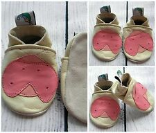 Baby Girl Leather Soft Sole Shoes LIGHT Pink LADYBIRD Gift First Walkers