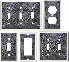 TUSCAN BLUE TILE IMAGE HOME DECOR LIGHT SWITCH OR OUTLET COVER V119