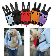 Nylon Pet Dog Airline Carrier Sling Tote Puppy Backpack Front Net Mesh Bag S M L