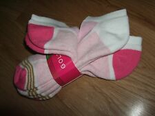 3 Pr GOLDTOE Women's Pink White Ultra Tech Low Cut Liner Socks Large 2 - 10-1/2