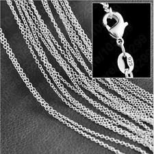 "wholesale 5pcs 925 Sterling Silver 1.2mm ""O"" Chain Necklace 16-30 inches"