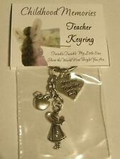 *NEW* HANDCRAFTED TEACHER GIFTS, CHOOSE CHARMS KEYRING / BAG CHARM OR BOOKMARK