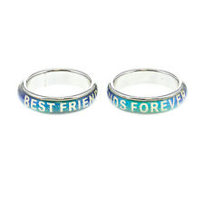 Claire's Women's 2 Pack Best Friends Mood Changing Rings In Glittermulti