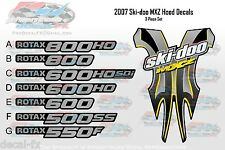 2007 Ski-Doo MXZ Hood Graphics Reproduction 3pc. 550F 500SS 600 HO SDI 800 Rotax
