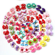 Mix Styles Pet Puppy Dog Cat Hair Bows Diamand Pearl Dog Grooming Accessories