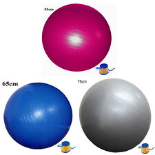 55 65 75cm YOGA SWISS BALL HOME GYM EXERCISE BALANCE PILATES EQUIPMENT FITNESS
