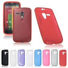 Slim Snap-on Soft TPU Rubber Back Case Cover Skin for Motorola Moto G S-line