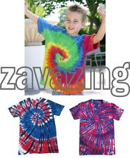 TIE DYE RAINBOW, INDEPENDENCE, UNION JACK, KIDS T-SHIRT HAND DYED HIPPY FESTIVAL