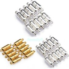 10 Sets Silver/Gold Plated Oval Magnetic Clasps Connectors Jewelry Findings