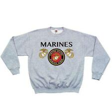 Grey Marines Seal Crewneck Sweatshirt - Made Of Polyester/Cotton/Running