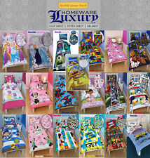 CHILDRENS DISNEY AND CHARACTER SINGLE DUVET COVERS - KIDS BEDDING SETS