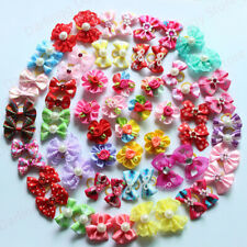 ON SALE 30pcs Mix Style Pet Dog Hair Bows Diamand Pearl Pet Dog Grooming Product