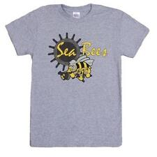 Grey Seabees Helm One Sided Imprint T-Shirt - Cotton Material, Recreational