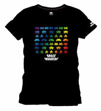 Space Invaders Rainbow Classic T Shirt