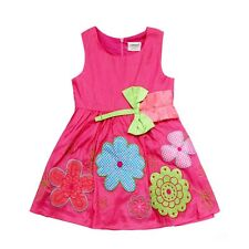 New Summer Party Dress For 1-6 Years Old Baby Girls Short Sleeve Floral Flock