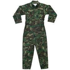Woodland Camouflage Air Force Zippered Coverall - Made Of Polyester/Cotton