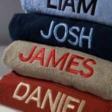 new PERSONALISED TOWELS Embroidered with ANY NAME 100% Cotton FREE P&P