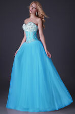 JS Formal Chiffon Evening Party Prom Cocktail Pageant Bridal Ball Gown Dress