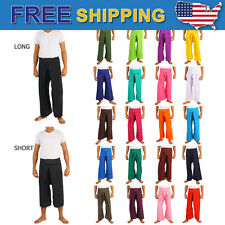 25 Colors Thai Fisherman Pants Toray Rayon Yoga Trousers Freesize Long or Short