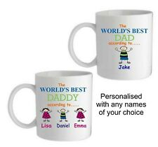 PERSONALISED LOVE MUG/COASTER, FATHERS DAY,BIRTHDAY,CHRISTMAS,CHRISTENING GIFT