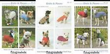 KNITS & PIECES KNITTED COATS/JUMPERS FOR DOGS PATTERNS - VERY SMALL/SMALL/MEDIUM