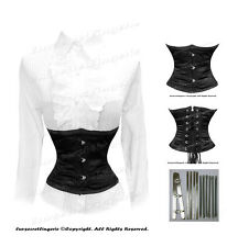 AU Stocks!Full Steel Boned Satin Underbust Waist Cincher Shaper Corset #9979B-FS