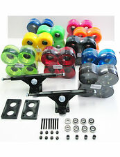 "7"" Longboard Truck+71mmWheels+Riser pads+Abec7 Bearings+1.5"" Hardware+spacer Set"