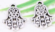 Wholesale 30/66Pcs Tibetan Silver(Lead-Free)Hand Charms Pendants 23x14mm