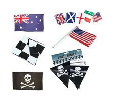 CLOTH CHEQUERED BUNTING PIRATE USA IRELAND OTHER NATIONAL FLAGS FANCY PARTY PROP