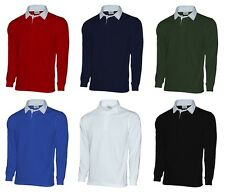 Mens Plain Premium Rugby Shirt All Colours & Sizes!