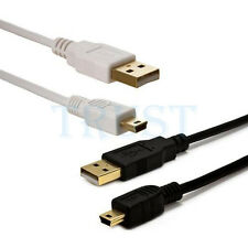 USB 2.0 MALE A to MINI B 5 PIN Cable - Black White 1.5FT 3FT 6FT 10FT 15FT Cmple