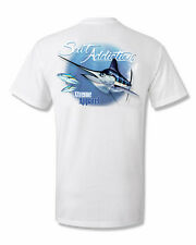 Salt Addiction Saltwater fishing t shirt,Marlin fishing,trolling,life,reel,rod,