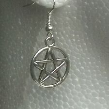 Pair PENTAGRAM  Earrings dangle hooks or studs **UK made** Free 1St Class Post**