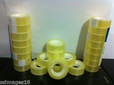 Office Rolls Sellotape Premium Easy Tear Clear Sticky Packaging Tape 19mm x 33m