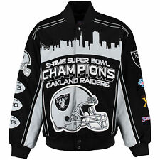 Oakland Raiders 3-Time Super Bowl Champions Jacket - NFL Team Apparel