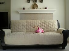 OctoRose® quilted Micro Suede Pets Sofa or love seat or armchair slipcover throw