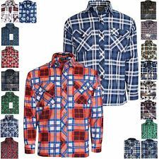NEW MENS FLANNEL LUMBER JACK CHECK BRUSHED CASUAL COTTON WORK SHIRT SLEEVE M 5XL