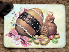 Hang Tags  CHOCOLATE EGG CHICK EASTER CANDY TAGS or MAGNET #455  Gift Tags