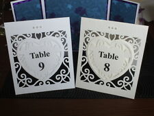 WEDDING TABLE NUMBERS 1-6 PLUS TOP TABLE (FREE STANDING)