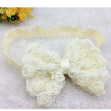 Lovely Flower Bow Hair Band Accessories Headband Headwear For Baby