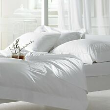 White Solid 1-Piece Fitted Sheet 100% Pure Cotton Select Extra Large Deep 1000TC