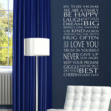 QUOTE WALL STICKERS! In Our Home Removable Art Decal, Interior Family Room Decor