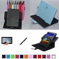 "Colorful Rotary Magic Case+Film+Stylus For 9"" Hipstreet Electra 2/FLARE 2 Tablet"