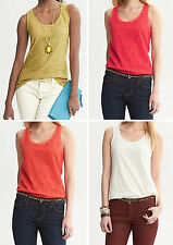 NWT Banana Republic New $45.00 Women Lace-Front Tank Size PXS, PS, PM, PL