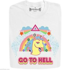 Stabilitees Funny Unicorn Go To Hell Slogan T Shirts, Unisex, All Colours