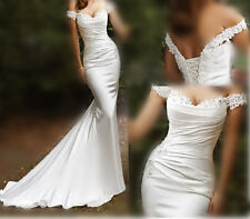 Mermaid Wedding Dress Bridal Gown Sexy Applique Lace Beach Dress 2015 New Formal